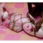 【着ぐるみ】バレンタインの贈り物【ビニール包み緊縛】 サークル:わびさびもえ(コスプレ緊縛)